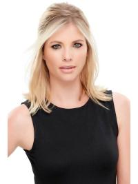"Synthetic Straight 12""(As Picture) Blonde Crown Topper From"