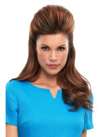 "Remy Human Hair Straight 16""(As Picture) Brown Top This From"