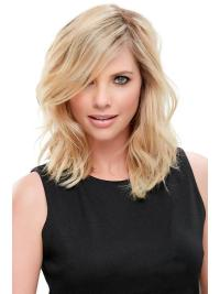 "Remy Human Hair Wavy 12""(As Picture) Blonde Part Toppers From"