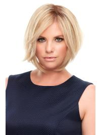 """Remy Human Hair Straight 8""""(As Picture) Blonde Part Topper From"""