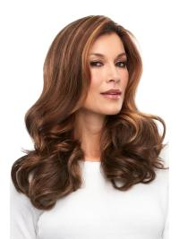 "Remy Human Hair Curly 18""(As Picture) Auburn Part French Topper From"