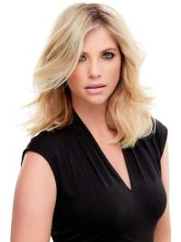 "Remy Human Hair Wavy 12""(As Picture) Blonde Part XL Topper From"
