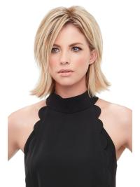 """Remy Human Hair Straight 8""""(As Picture) Blonde Part XL Topper From"""