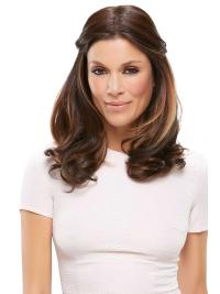 """Synthetic Wavy 18""""(As Picture) Brown Part XL Topper From"""