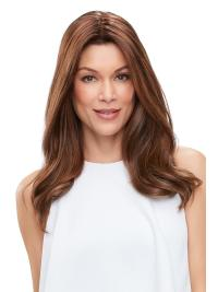 """Remy Human Hair Straight 18""""(As Picture) Brown Part XL French Topper From"""