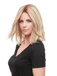 "Remy Human Hair Straight 12""(As Picture) Blonde Top Form French From"
