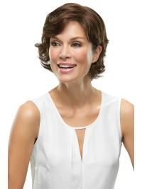 """Synthetic Wavy 6""""(As Picture) Brown Top Crown From"""