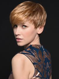 This cropped cut wig lifts up the texture at the crown before descending into a sharp bang in a range of fantastic colors!