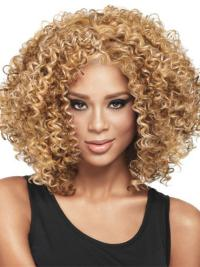 Stylish Without Bangs Capless Wigs For Black Women Kinky