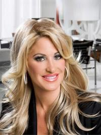Blonde Wavy Long Discount Kim Zolciak Wigs