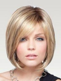 Gorgeous Straight Monofilament Human Hair Wigs For Women
